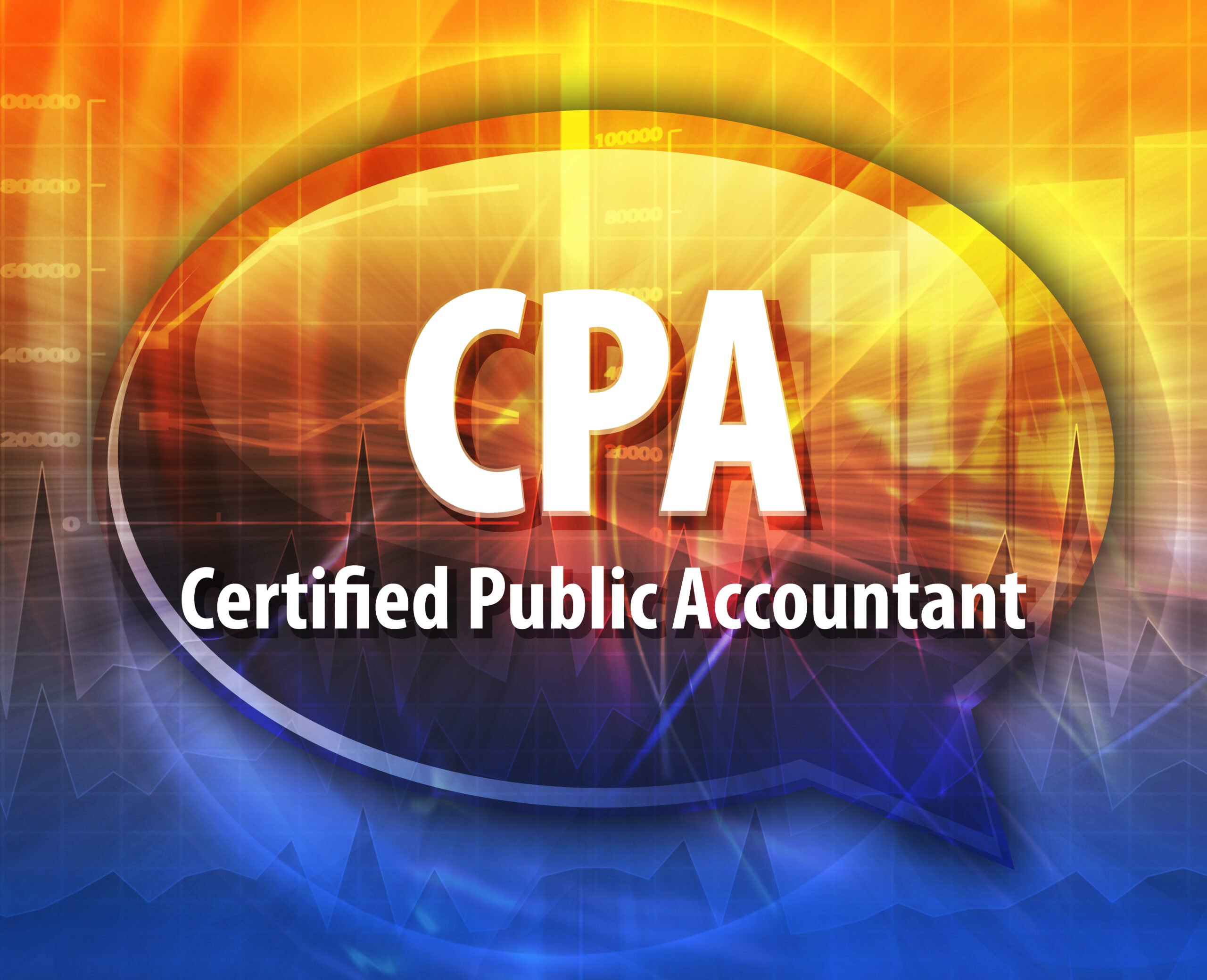 word speech bubble illustration of business acronym term CPA Cer